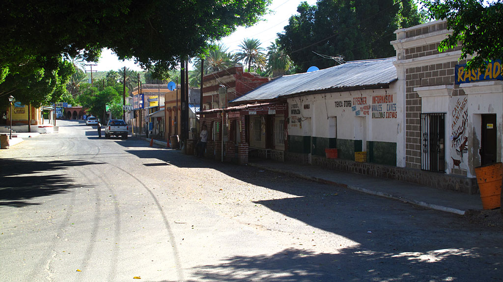 The San Ignacio town square is quiet, and looks like something out of a Hollywood movie set.