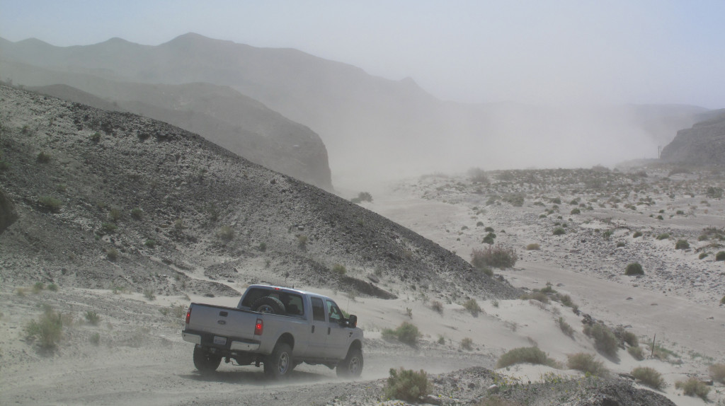 On the way home, we took an off-road route, which took us through a very windy Afton Canyon.
