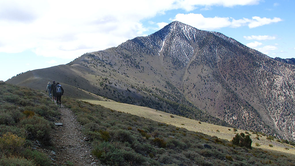 It had snowed two days before our ascent to Telescope - the dusting was mostly gone, except for the top of the mountain.