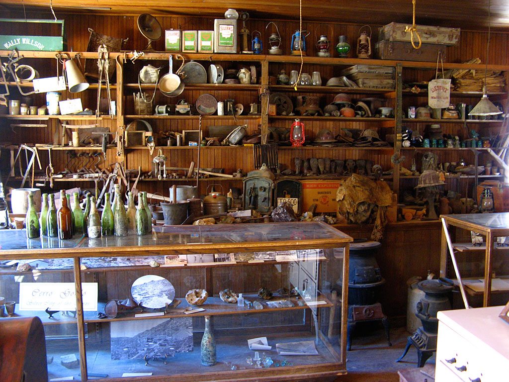 Inside the general store.