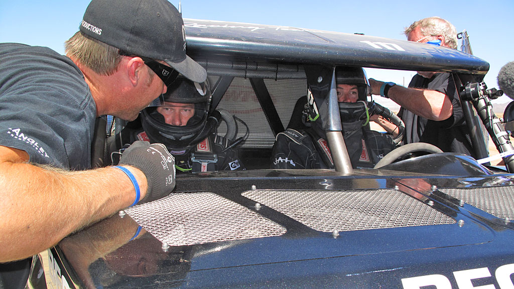 Dan Martin pilots the new Racer Engineering Class 1 car. Brian Martin is his co-driver.