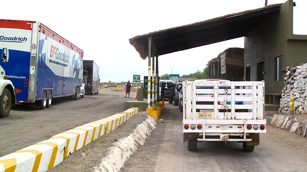 One of the half-dozen Federal checkpoints along Highway 1 in Baja. This one is located just north of San Ignacio.