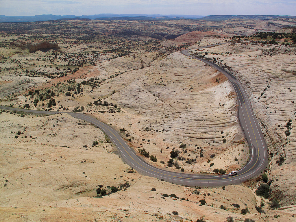 Highway 12 passing through the Grand Staircase-Escalante National Monument in Utah.