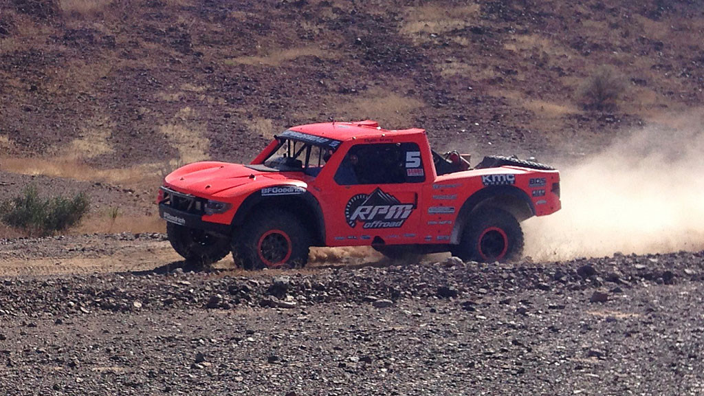 Clyde Stacy's #5 RPM Racing Chevy Rally Truck was first on the course at RM85 with a several-minute lead on the number two position. He ultimately finished third.