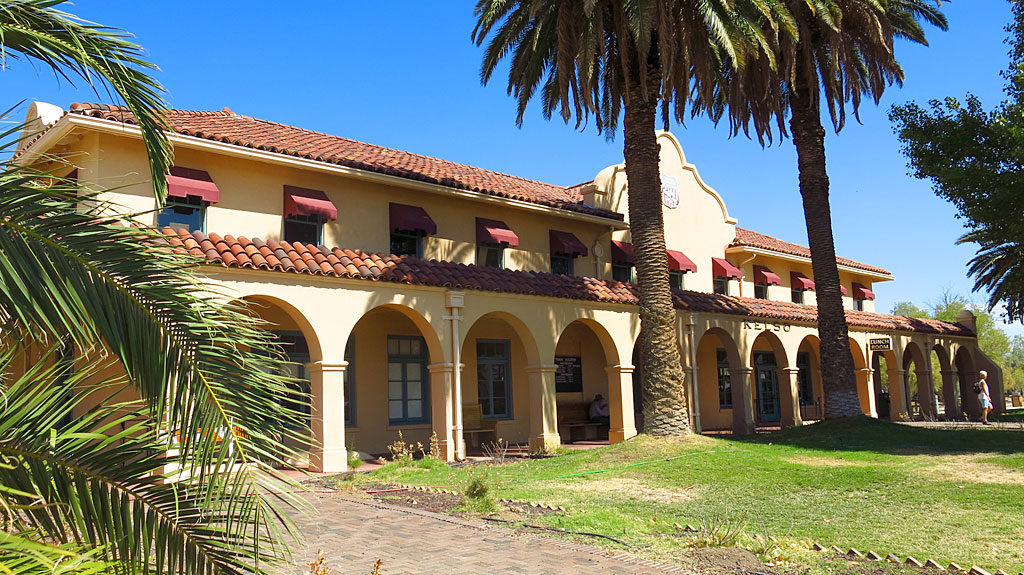 Another off-Mojave Road stop takes us to the old Union Pacific Kelso Depot. Several years ago, the railroad sold the property to the National Park Service which turned the building into a pretty spectacular Mojave National Preserve visitor center.