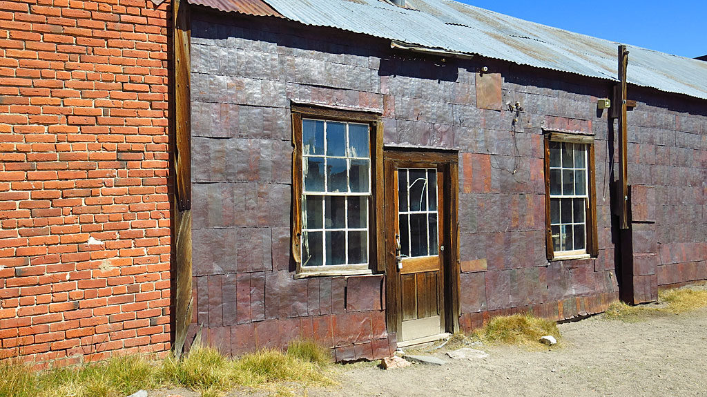 Bodie was remote, materials were in high demand, and nothing could be wasted. Once empty, tin cans were cut open, flattened and used as building siding, or to seal a leaking roof.