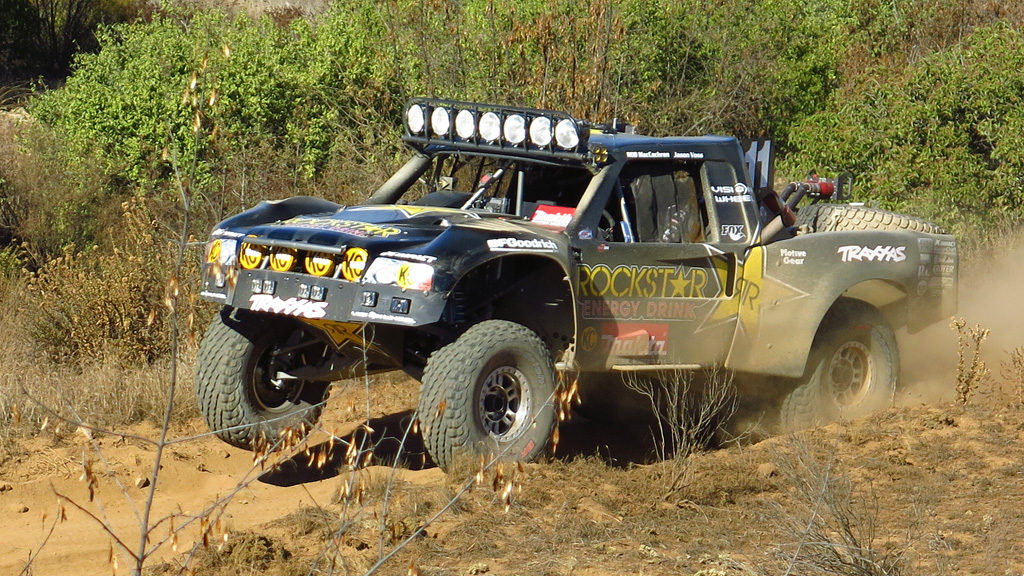 Passing Race Mile 30, Trophy Truck #11 would ultimately win the 49th running of the Baja 1000 becoming a three-peat for Rob MacCachran with an elapsed time of 17 hours and 13 minutes.