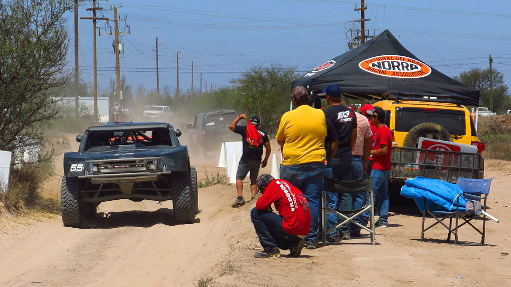 The COPS Trophy Truck begins a Special Section just south of Ciudad Constitucion. Next stop in 200 miles, La Paz.