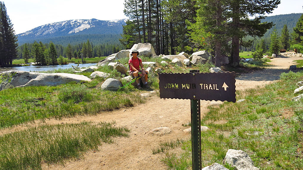 Carol and I hiked a short section of the John Mu Trail in Tuolumne Meadows.