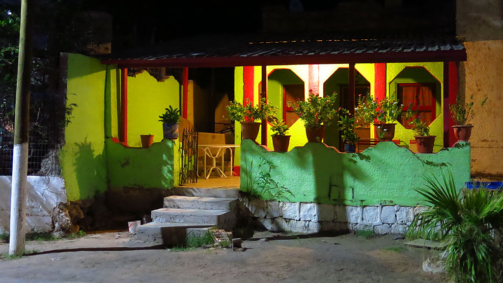 A colorful house on Calle Hildago.