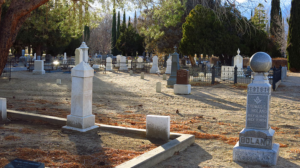 The Independence Cemetery -- a couple blocks from our motel containing past residents of the area who were miners and ranchers and soldiers.