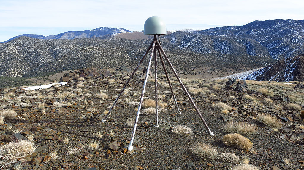 Along with hilltop communications equipment, we saw an EarthScope GPS monitoring station, keeping a watchful eye on our pesky tectonic plates.