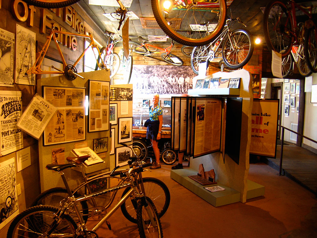 Carol and I paid a visit to the Mountain Bike Hall of Fame.