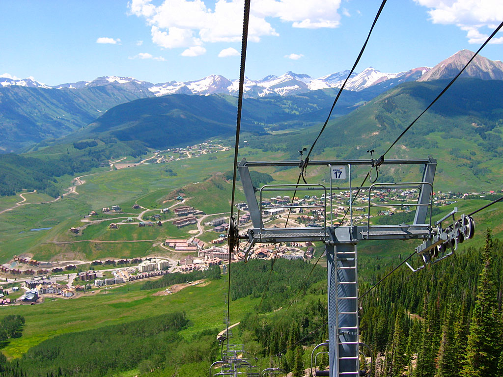 Taking a day off from riding in the wilds, we decided to ride the Crested Butte ski area.
