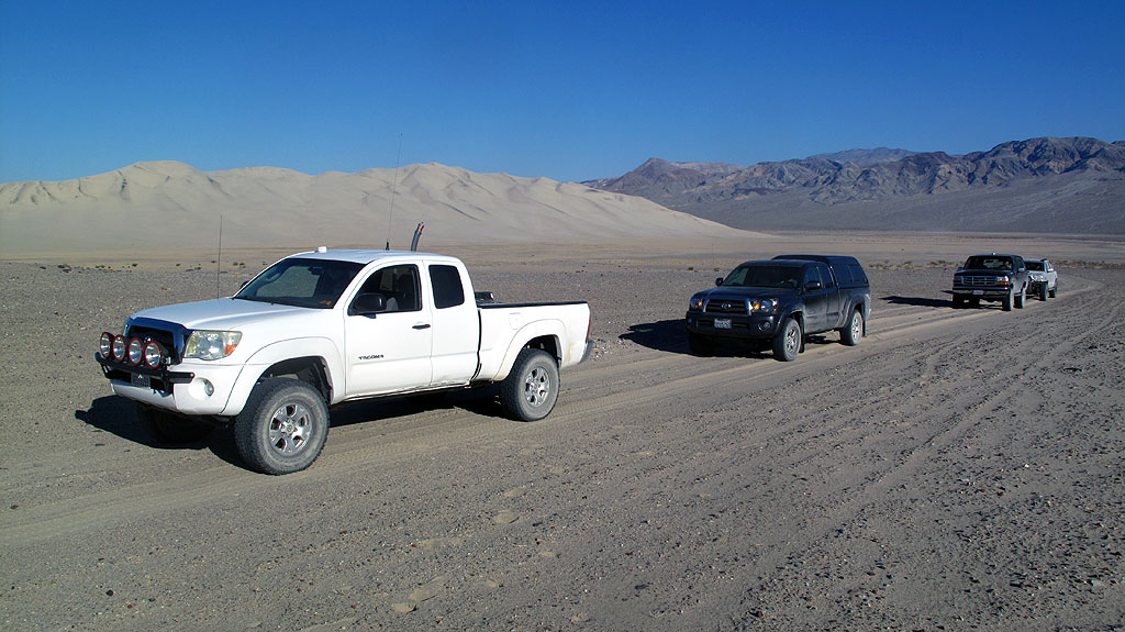 The backside of the Eureka Dunes.