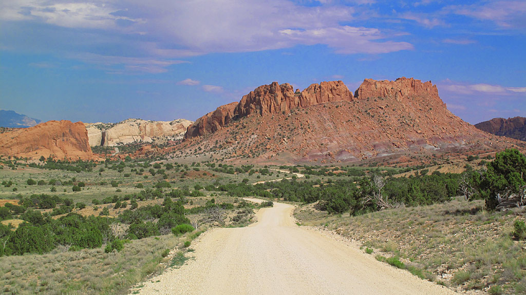 Much of the Burr Trail is either paved or graded dirt, suitable for almost any vehicle in dry weather. Of course when the road gets wet, all bets are off.