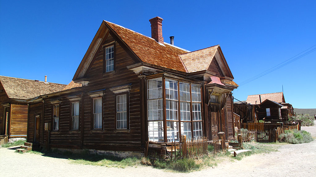 Here is a residence of Mr. J.S. Cain, who was eventually the town's principal property owner. Cain moved to Bodie when he was 25 and built an empire.