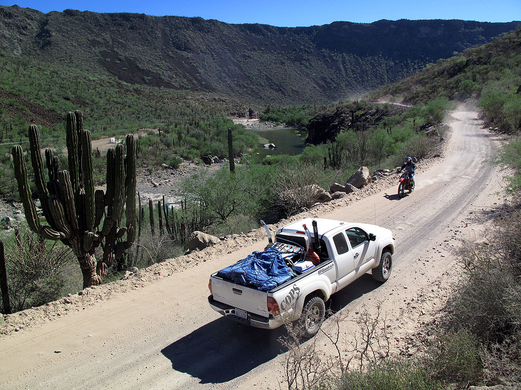 On the way to the mission, several racers passed us, prerunning the Baja 1000 race course.