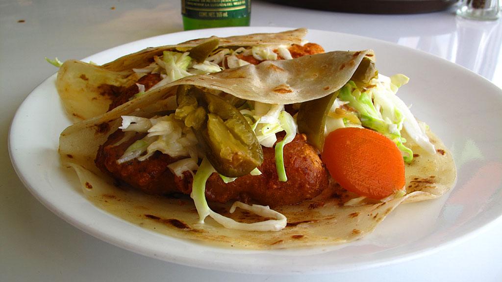 Fresh dorado tacos at Rancho Buenaventura on the Sea of Cortez. Olivia always makes the best food.