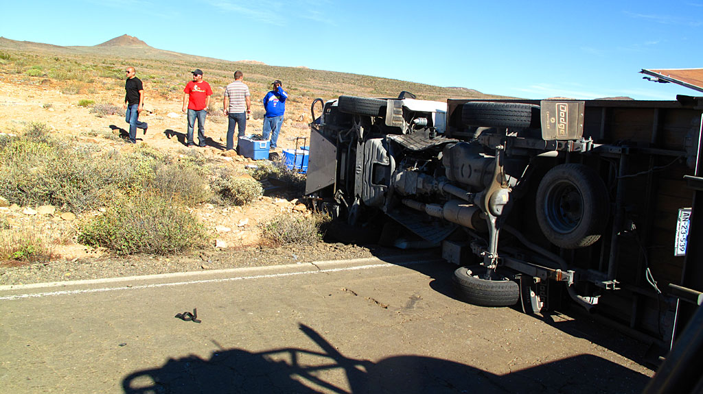 Drifting onto the non-existent shoulder on Highway 1 can be problematic.