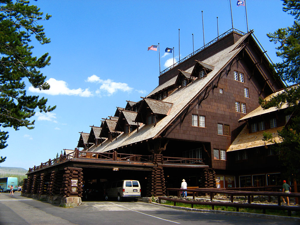 Old Faithful Inn opened in 1904.