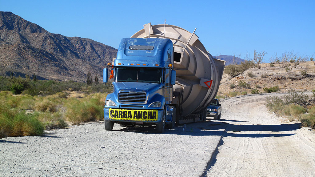 """From our """"What Was He Thinking?"""" Department: Half-way between Coco's and Gonzaga, headed south. The load appeared to have shifted."""