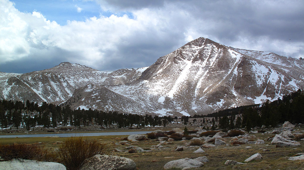 Cirque Peak and Cottonwood Lake - this would be our turn-around point, 7.5 miles from the car.