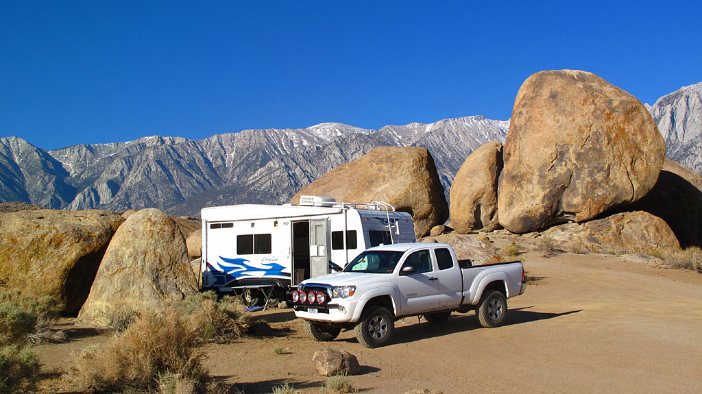 Our dispersed camp site was surrounded by rocks of all sizes - perfect if you're into bouldering or if you're a kid.