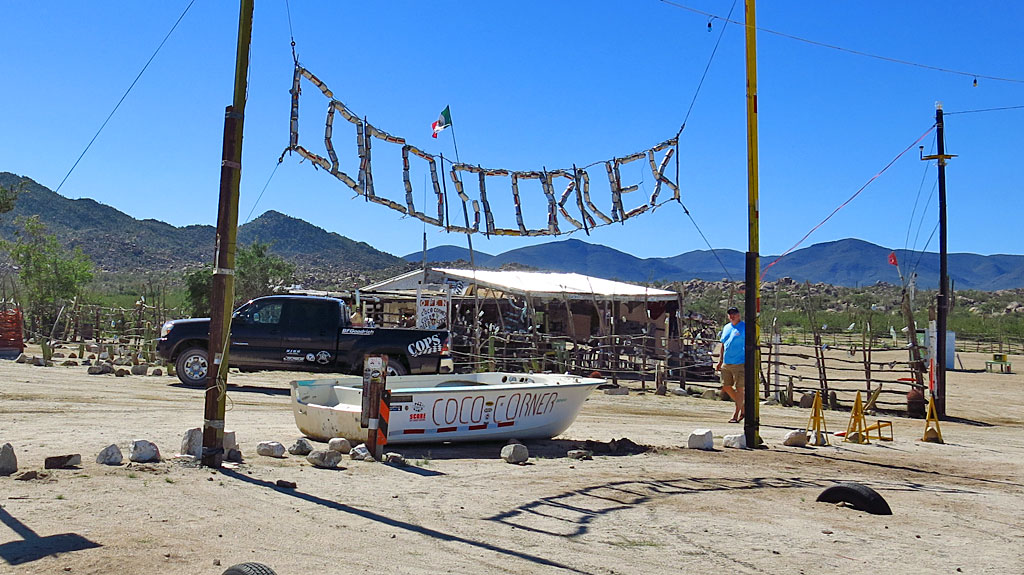 Steve and I stopped at Coco's Corner to say hello to Jorge and give him some stuff we'd brought. In exactly a week, the Baja 1000 would be invading Coco's, 400 miles from the start in Ensenada.