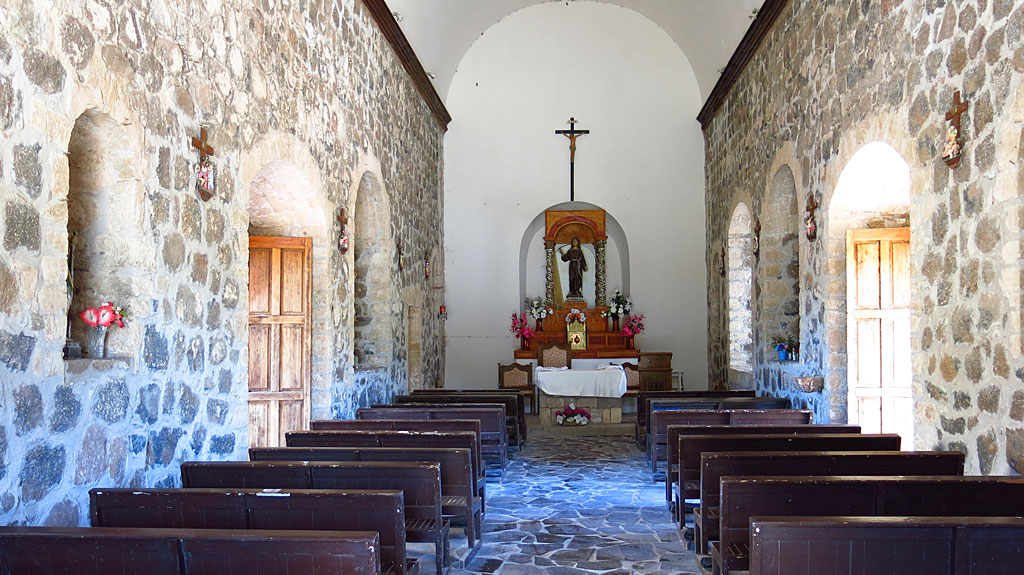 The mission ceased to function in 1828. The present church buildings have been extensively restored.