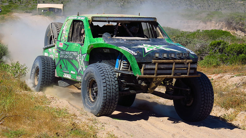 Justin Davis was  the Class 1 leader in his Rigid Industries Jimco, finishing first in Class in around 24-1/2 hours.