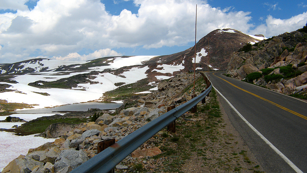 Beartooth Pass, Montana in July, a little over 11,000' elevation.