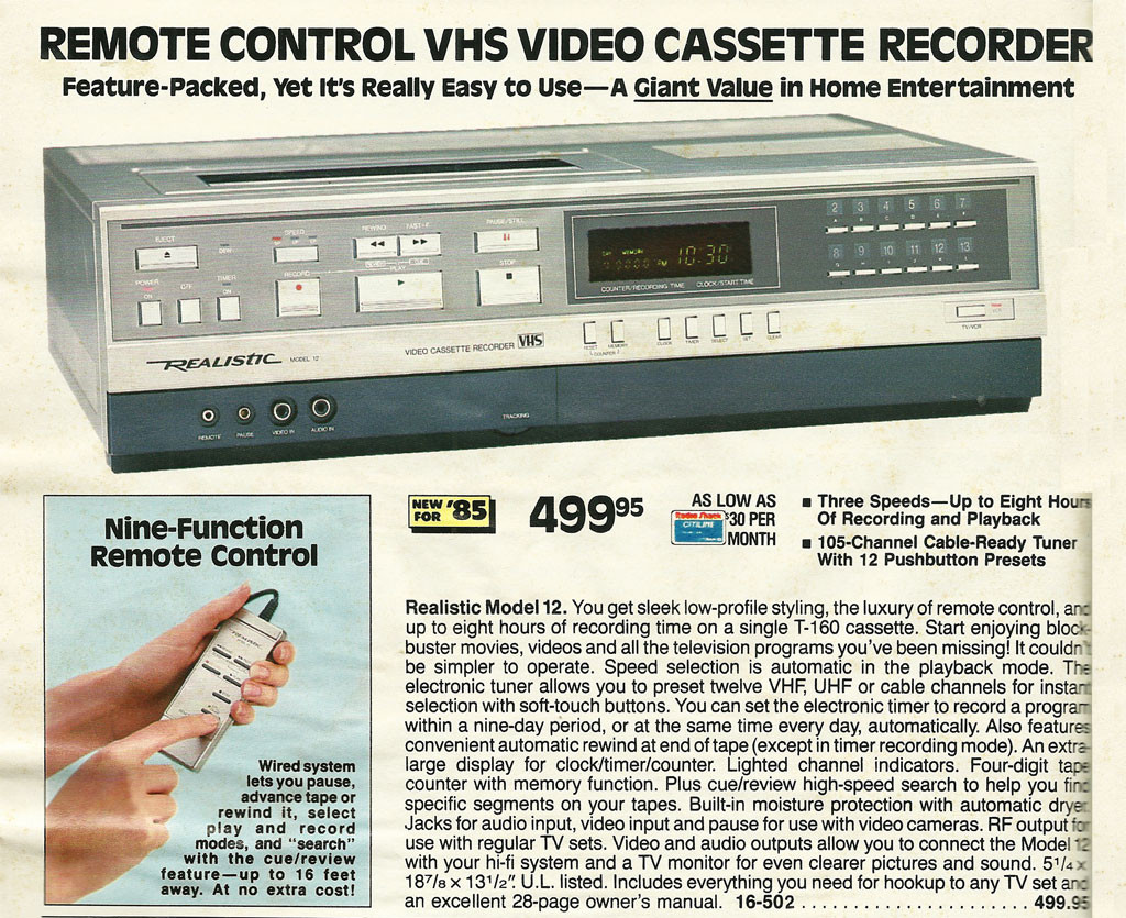 25 Pages from the 1985 Radio Shack Catalog