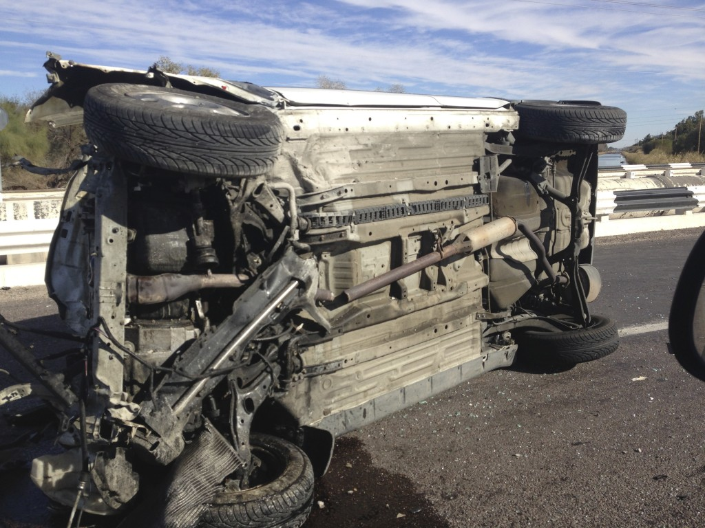 On my drive to San Felipe, south of Mexicali, I passed a truck on its side on the highway - a reminder to be attentive while driving.