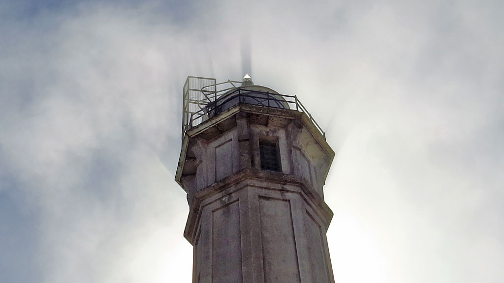 The Alcatraz Island Lighthouse was built in 1852 and was the first lighthouse on the U.S. West Coast. The one that exists today was built in 1909 - it replaced the original which was fatally damaged in the 1906 earthquake.