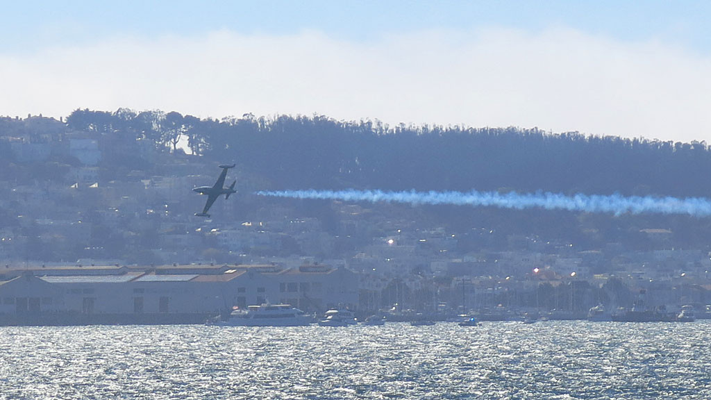 As a bonus while visiting The Rock, we got to see part of the Fleet Week San Francisco air show including the Blue Angels.