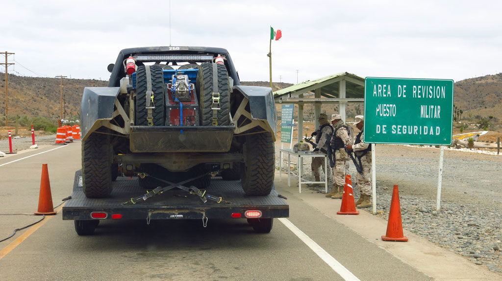 Passing thru one of the handful of military checkpoints along Highway 1 - homeward bound.