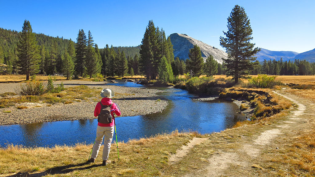 Our first stop on the PCT was to snap photos of the Tuolumne River and Lembert Dome.