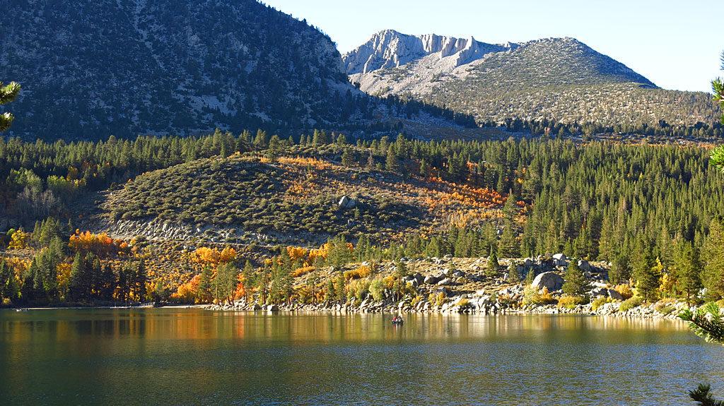Looking west across Rock Creek Lake.