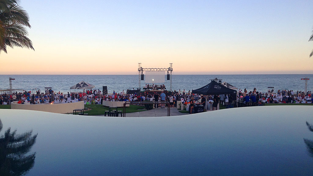 The NORRA closing party was held on the beach at the Club de Playa Campsesre. There was music and food and drink along with a spectacular view of the Pacific.