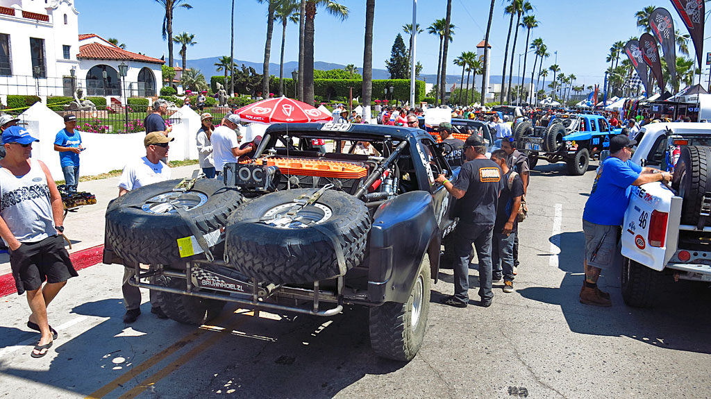 As with many races, Contingency Row and Tech Inspection were held in front of the Riviera Cultural Center in Ensenada.