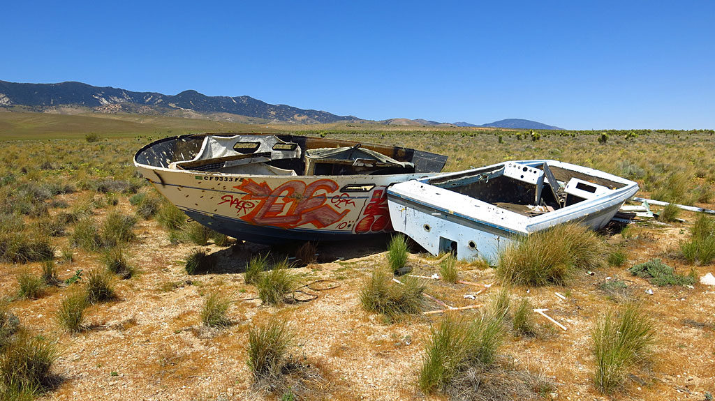 For some reason we see lots of derelict boats in the desert. The result of global warming perhaps?