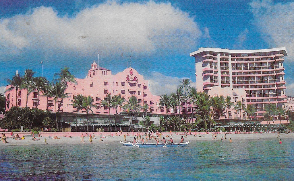On back: The Royal Hawaiian -- The Hotel on Waikiki Beach.