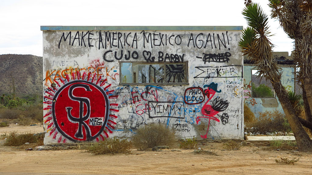 400 miles down Baja, Mexicans have a slightly different vision than the President of the United States.