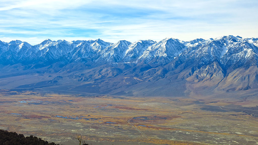 At the top of Mazourka Peak we were rewarded with spectacular views of the Eastern Sierras and Owens Valley.