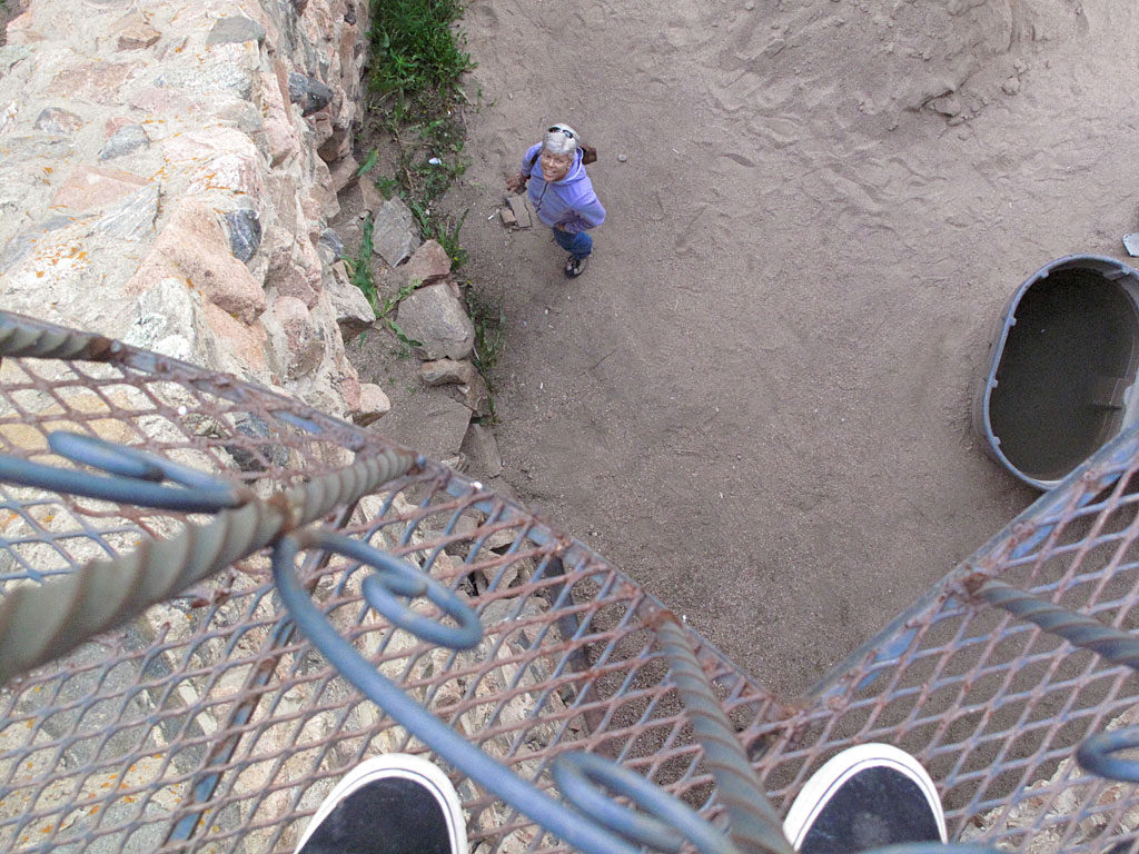 If you are not comfortable walking on expansion grating, and being able to look straight down to where your body will plummet, it might be best to stay on the safety of terra firma.